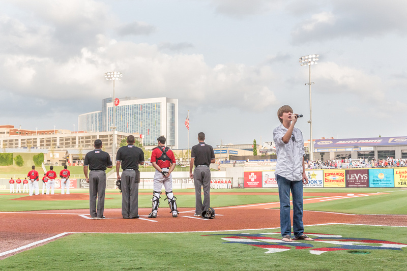 The Anthem - pre-game tradition.